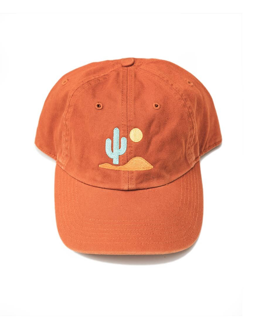 Lone Cactus Dad Hat in Burnt Orange
