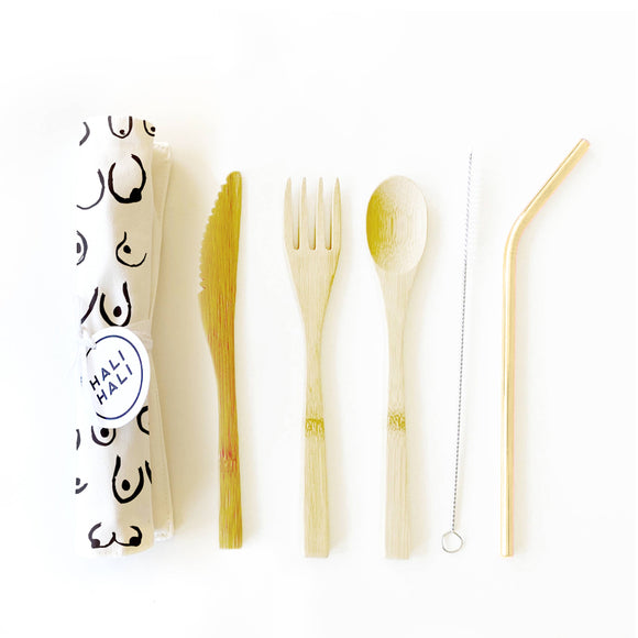 Nip Slip Eco Friendly Reusable Cutlery Set