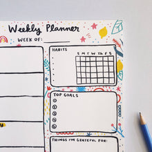 Load image into Gallery viewer, Weekly Planner Notepad