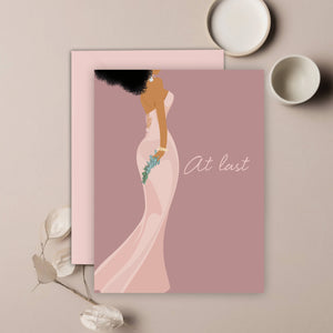At Last Wedding Greeting Card