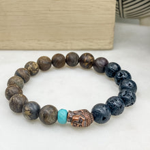 Load image into Gallery viewer, Bronzite Buddha Bracelet