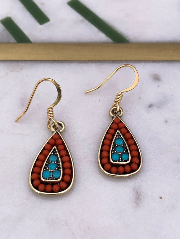 Antique Teardrop Earrings