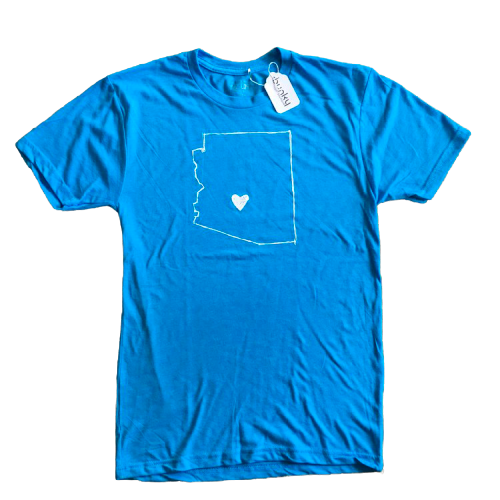 AZ Love Men's Tee, Adobe Blue