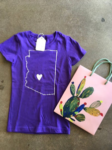AZ Love Girl's Tee, Purple