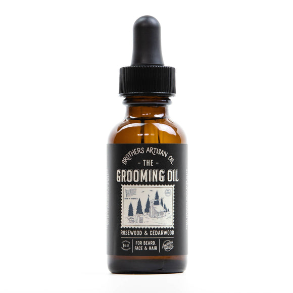 Grooming Oil for Face, Beard + Hair