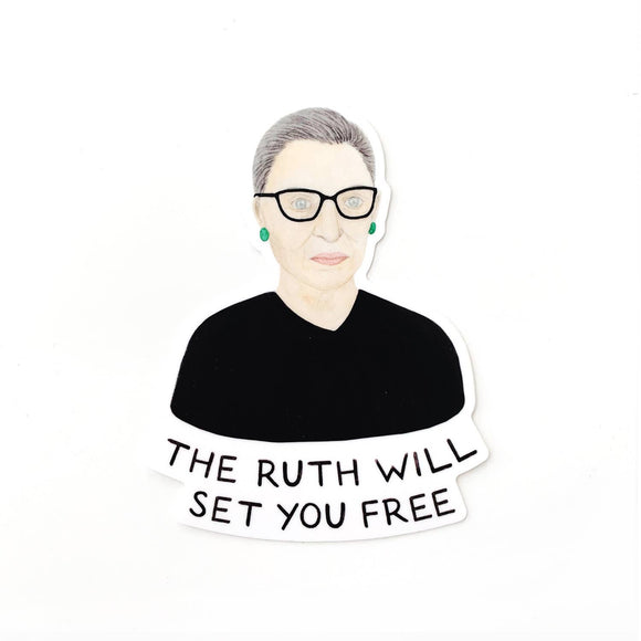 Ruth Will Set You Free RBG Sticker