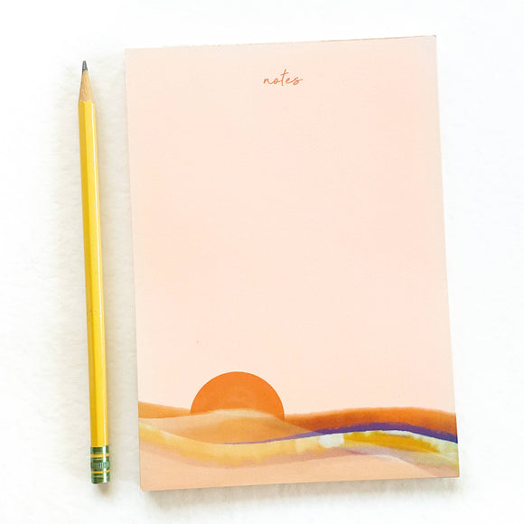 Pink Sunset Notepad