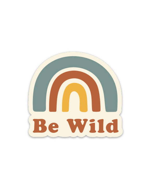 Be Wild Retro Sticker