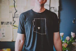 AZ Love Men's Tee, Vintage Black