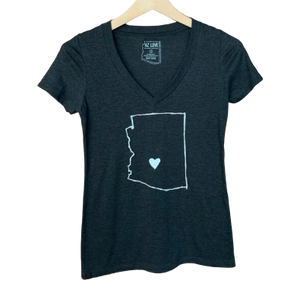 AZ Love Women's V-Neck Tee Vintage Black