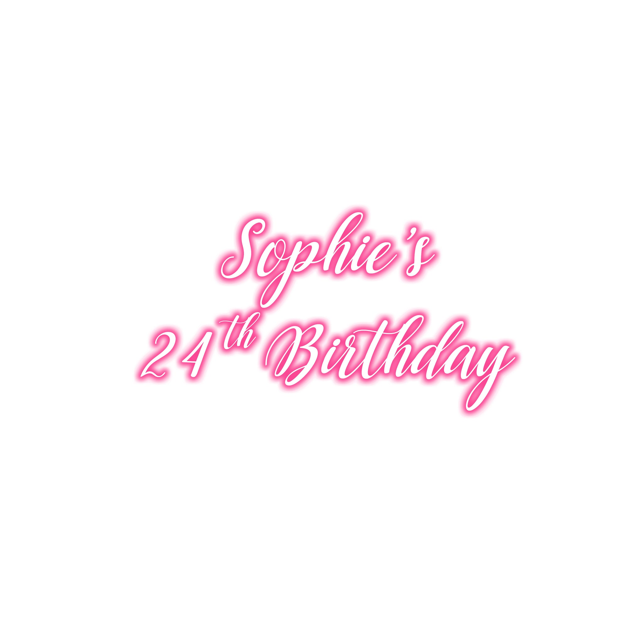 Birthday neon - custom digital sticker
