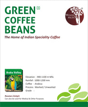 Load image into Gallery viewer, Woodi Peck's Araku Valley Green Coffee Beans