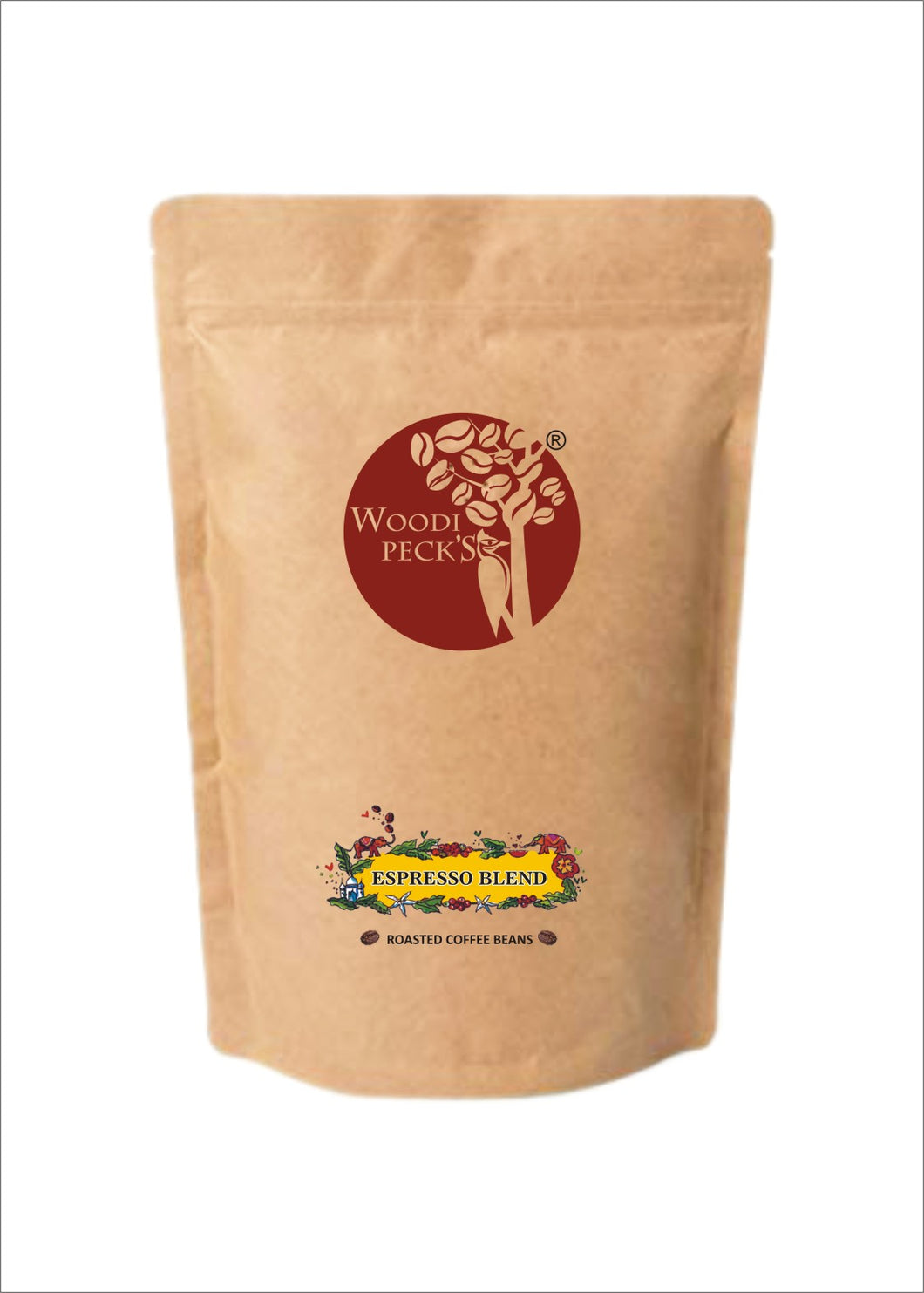 Woodi Peck's Espresso Blend Roasted Coffee Beans