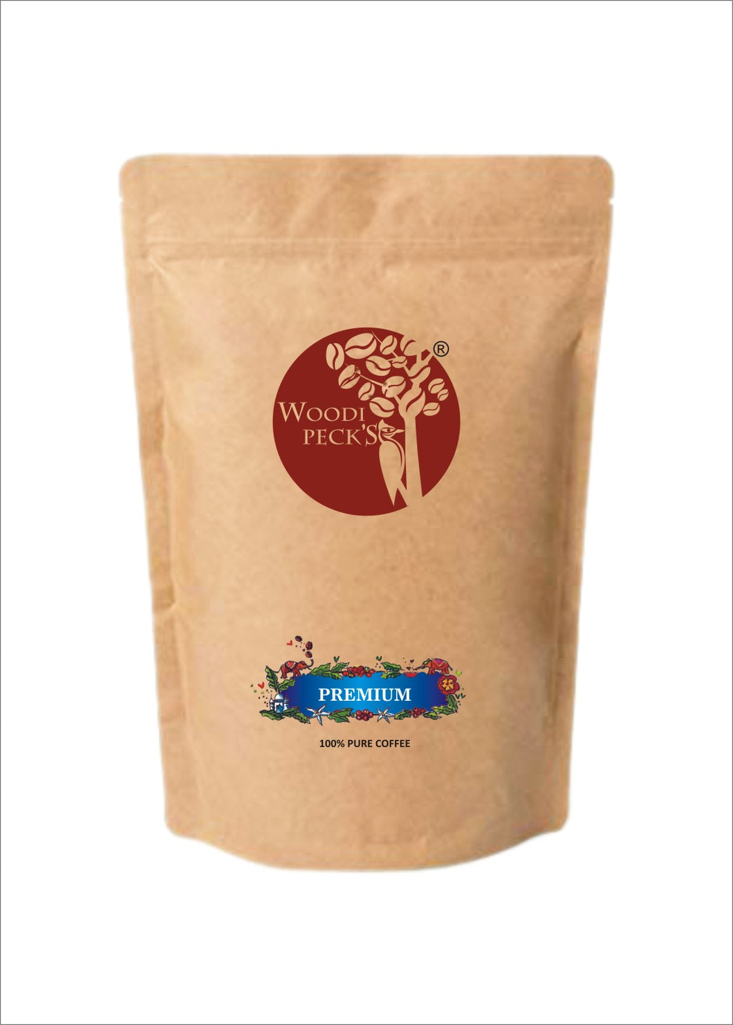 Woodi Peck's Premium Pure Coffee Powder