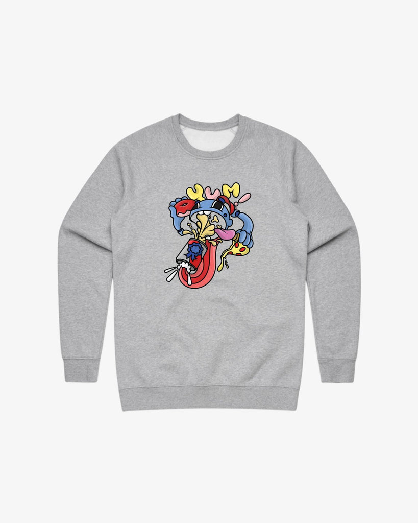Gaijin Crewneck Fleece- Heather Grey