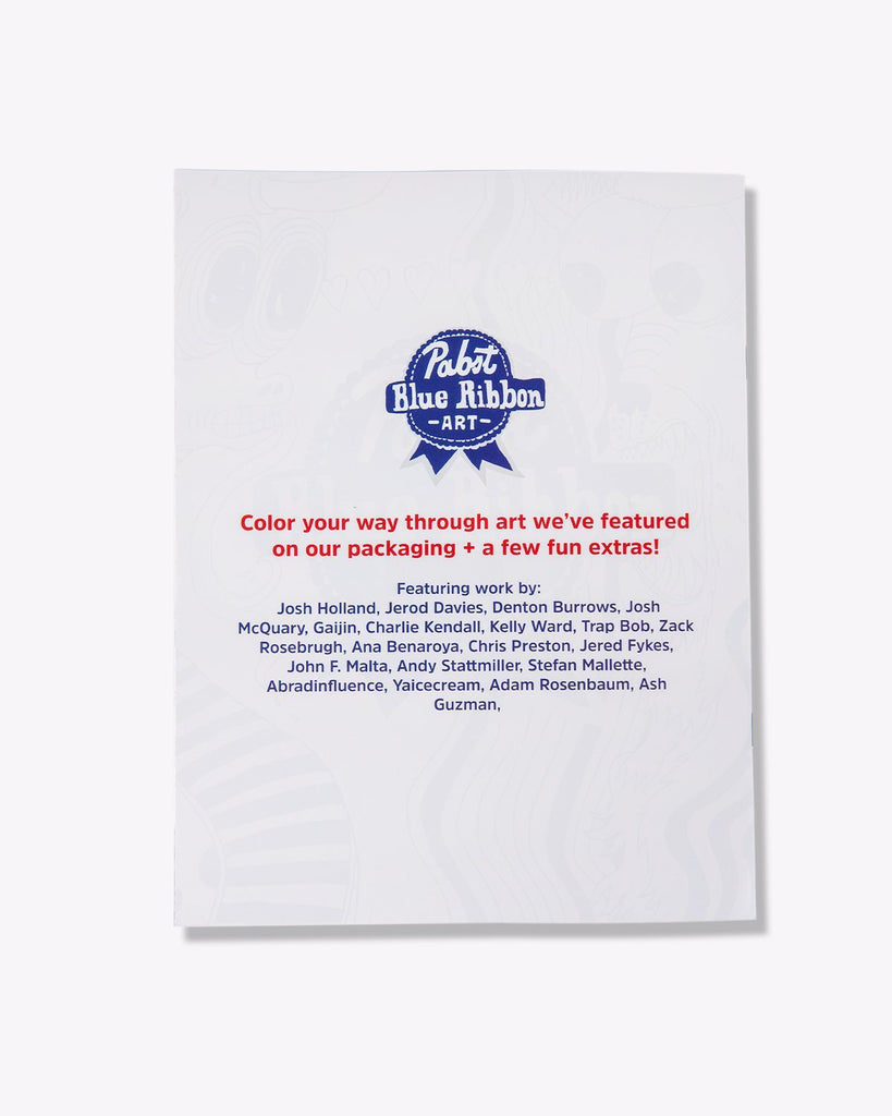 Pabst Color Your Way Through The Years Coloring Book