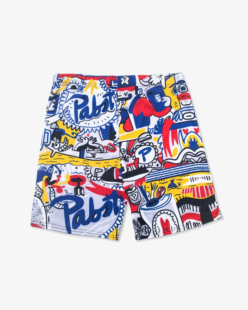 Jorge Torrealba x Pabst Allover Shorts