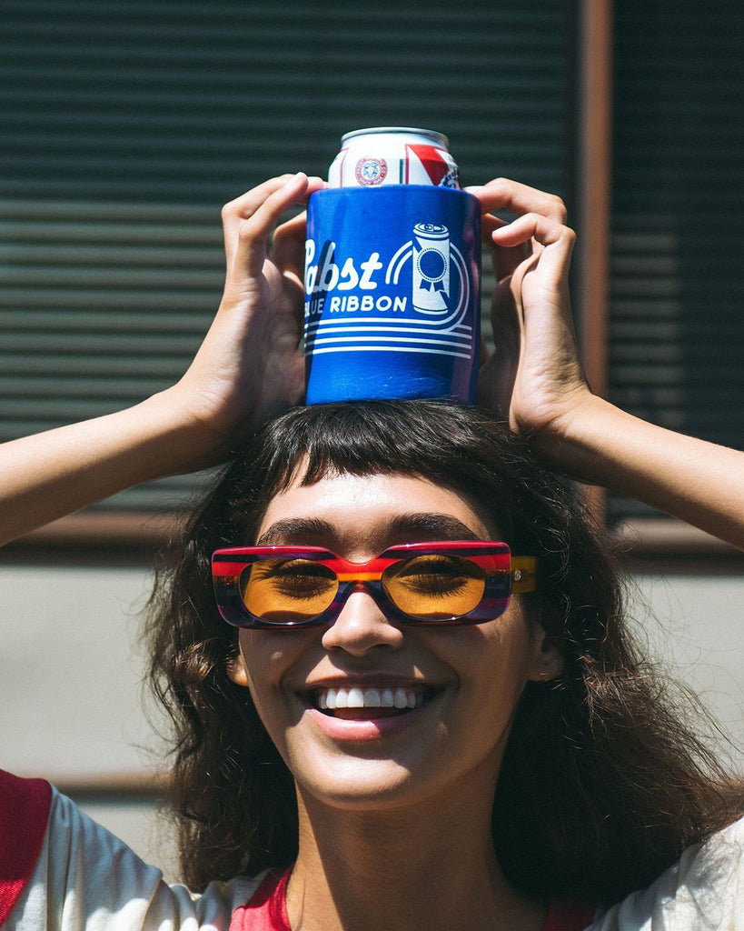 PBR Retro Wave Float Koozie