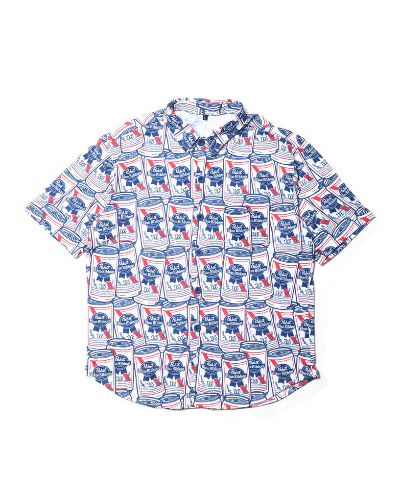 Cans Allover Button Up Tee