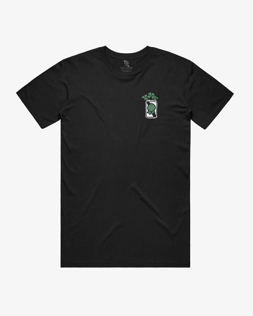 Clover Can Tee- Black