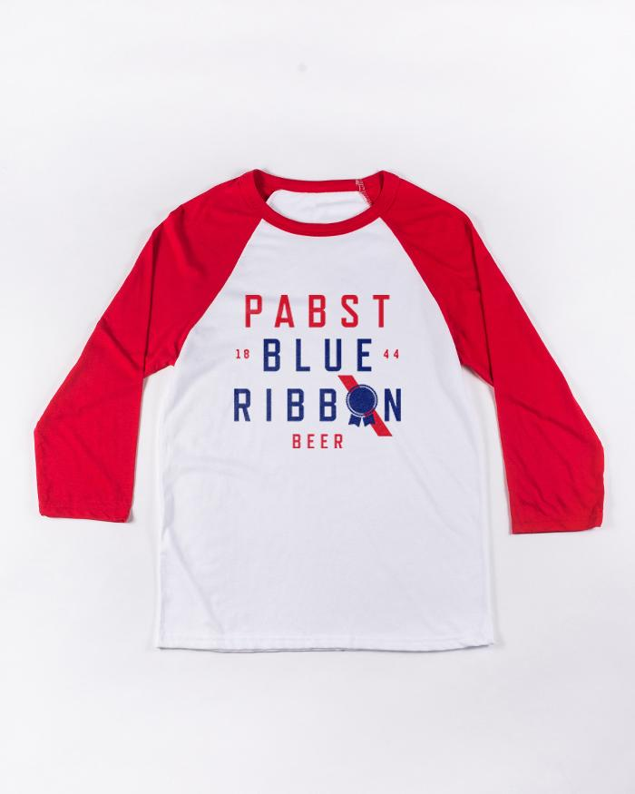 Cross 3/4 Raglan - Pabst Blue Ribbon Store