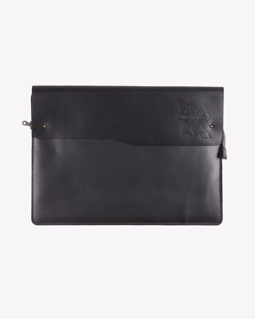 PBR Leather Laptop Case- Black