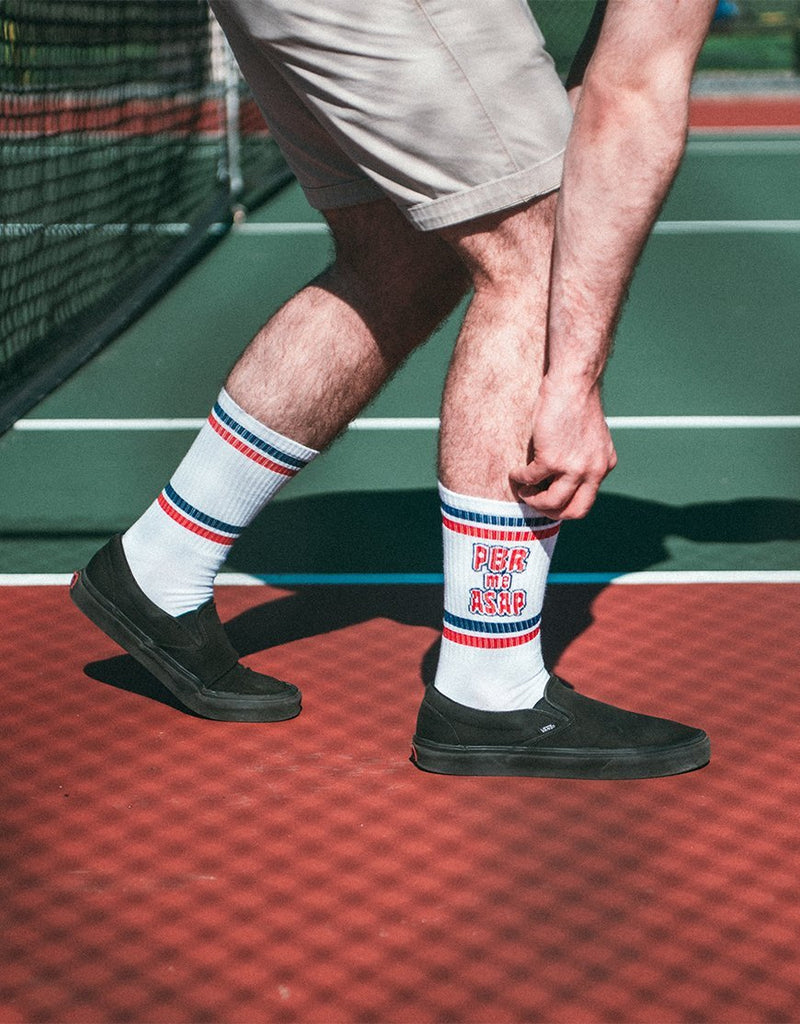 PBR Me ASAP Crew Socks