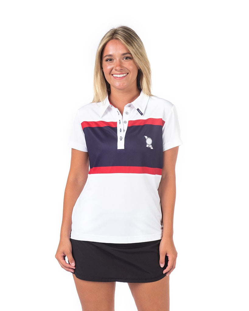 PBR x =RANGE= GOLF Women's Stripe Polo