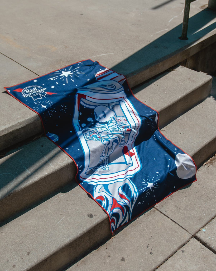 Pabst X Ash Beach Towel