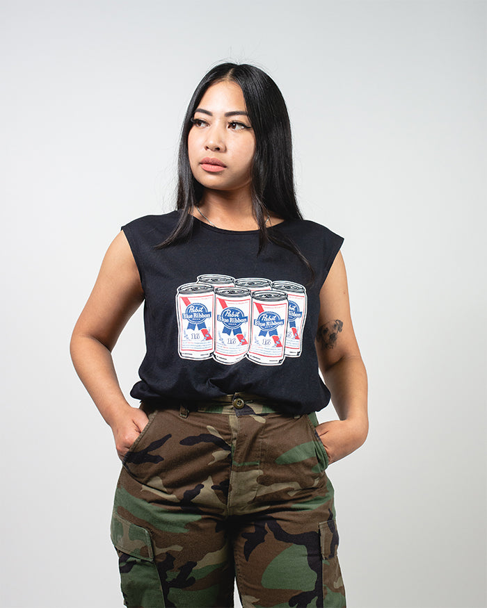Womens Cans Tank - Pabst Blue Ribbon Store
