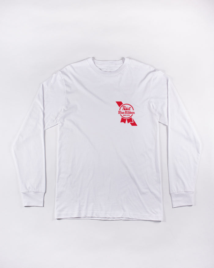Brewed Long Sleeve Tee - Pabst Blue Ribbon Store