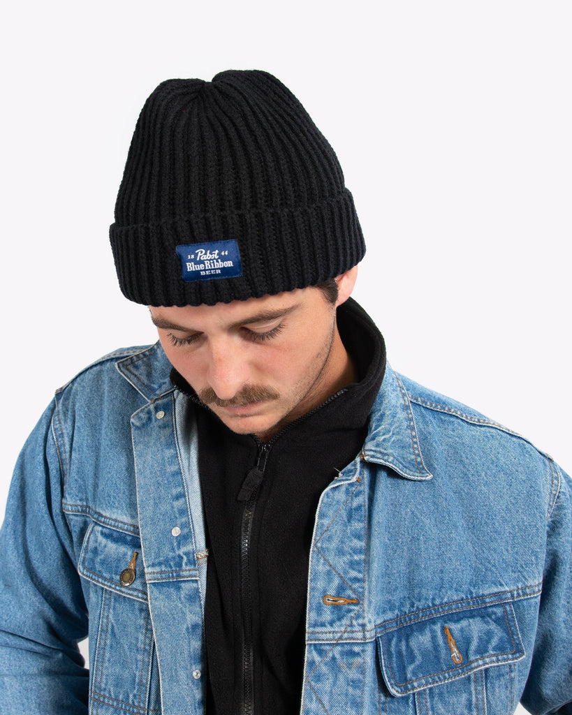 Label Beanie- Black
