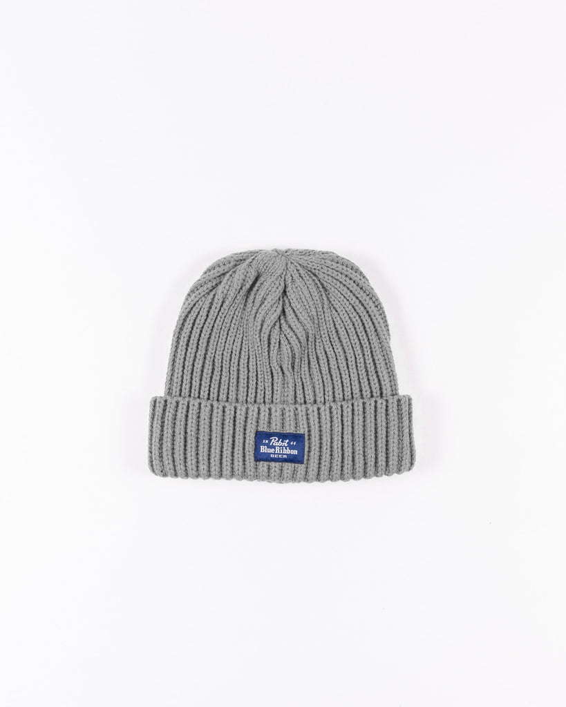 Label Beanie- Light Grey