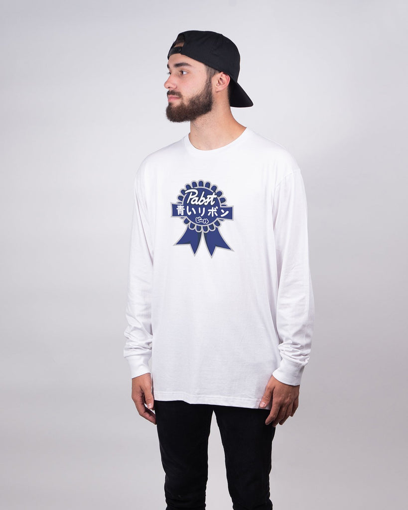 Art Can Gaijin Long Sleeve Tee - Pabst Blue Ribbon Store