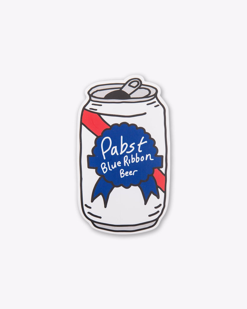 Pabst Can Hand Drawn Sticker