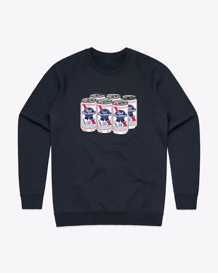 6 Pack Crewneck (Black)