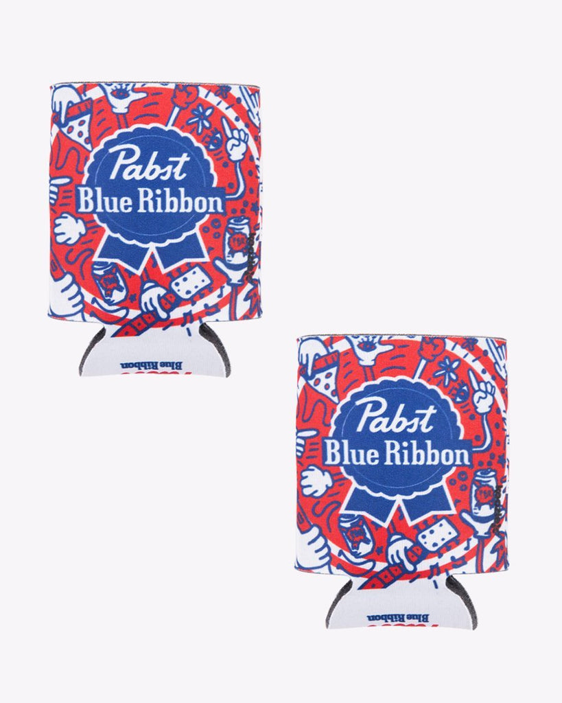 Pizza.Party.Pabst.Repeat Koozie Pack Of 2