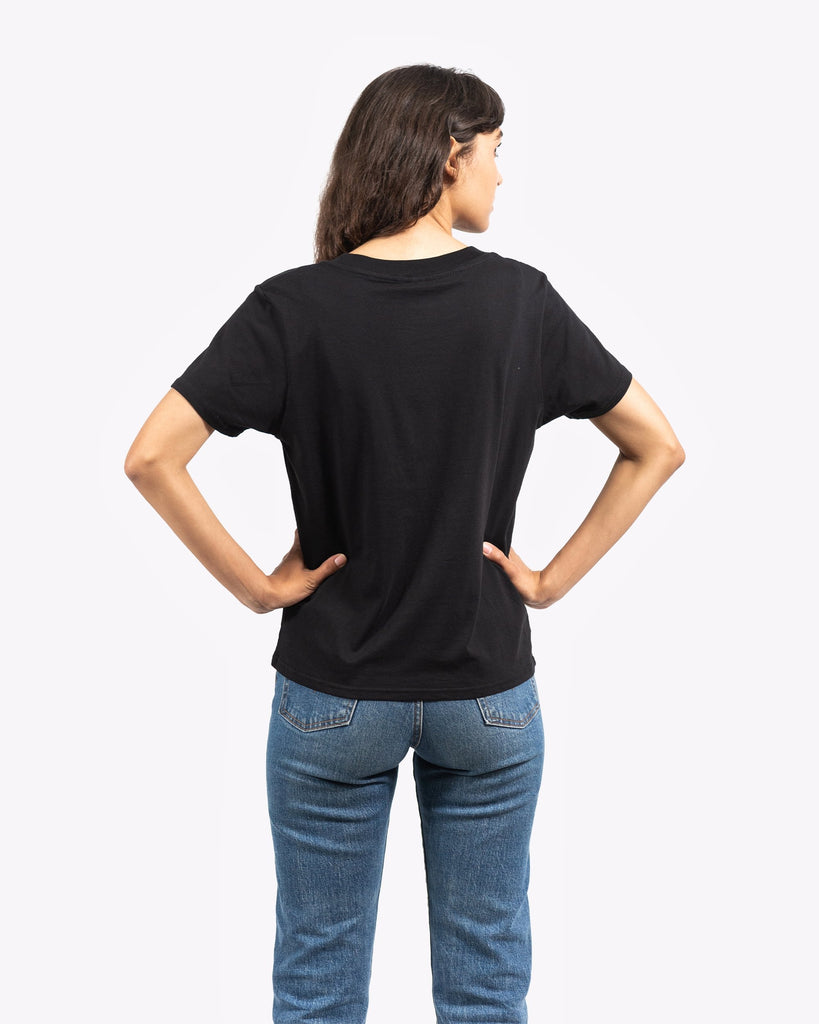 Women's Ribbon Pocket Tee- Black - Pabst Blue Ribbon Store