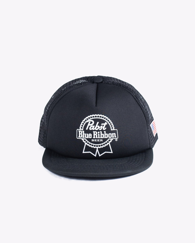 PBR Ribbon Trucker Hat- Black