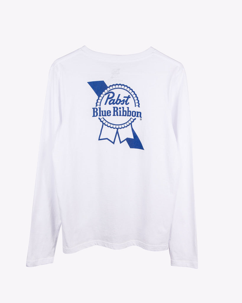 Women's Fancy L/S- White - Pabst Blue Ribbon Store