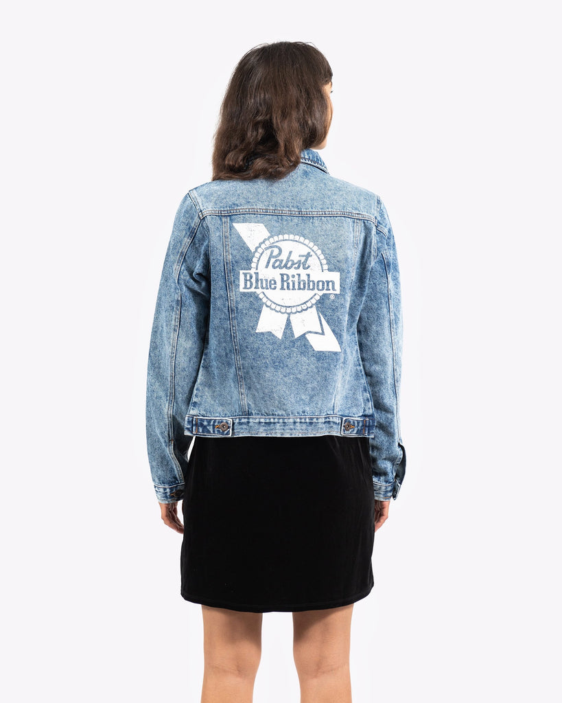 Women's PBR Denim Jacket - Pabst Blue Ribbon Store