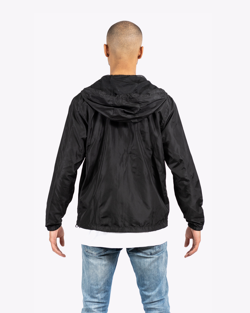 Covered Windbreaker Jacket Black