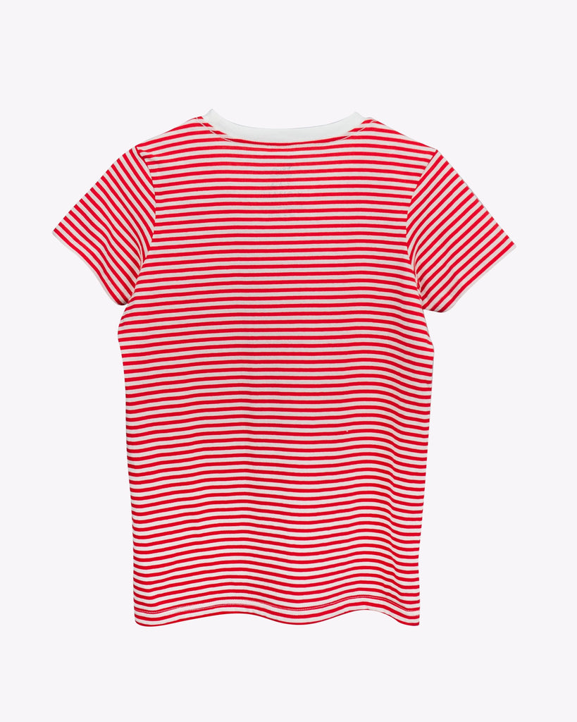 Women's Sailor Stripe Tee- Red/White - Pabst Blue Ribbon Store