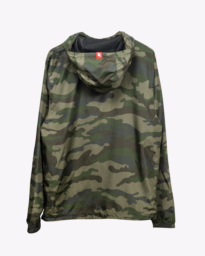 Covered Windbreaker Jacket Camo - Pabst Blue Ribbon Store