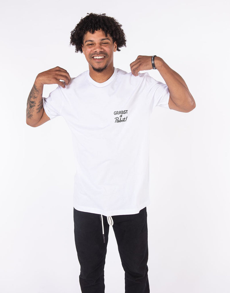 Grabst a Pabst! - McBess OG Can Tee (White)