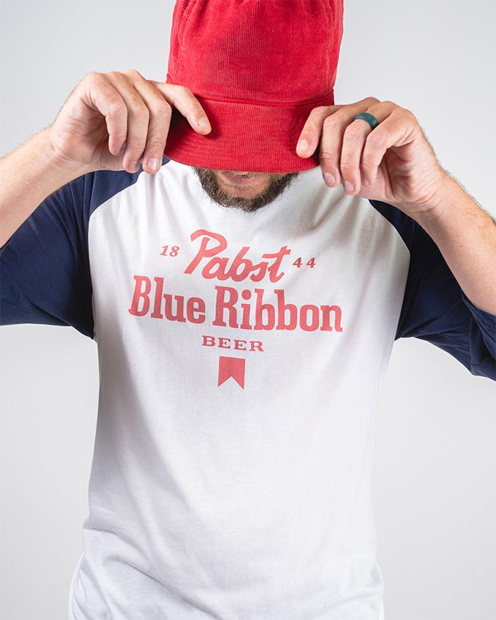 Letters 3/4 Raglan - Pabst Blue Ribbon Store