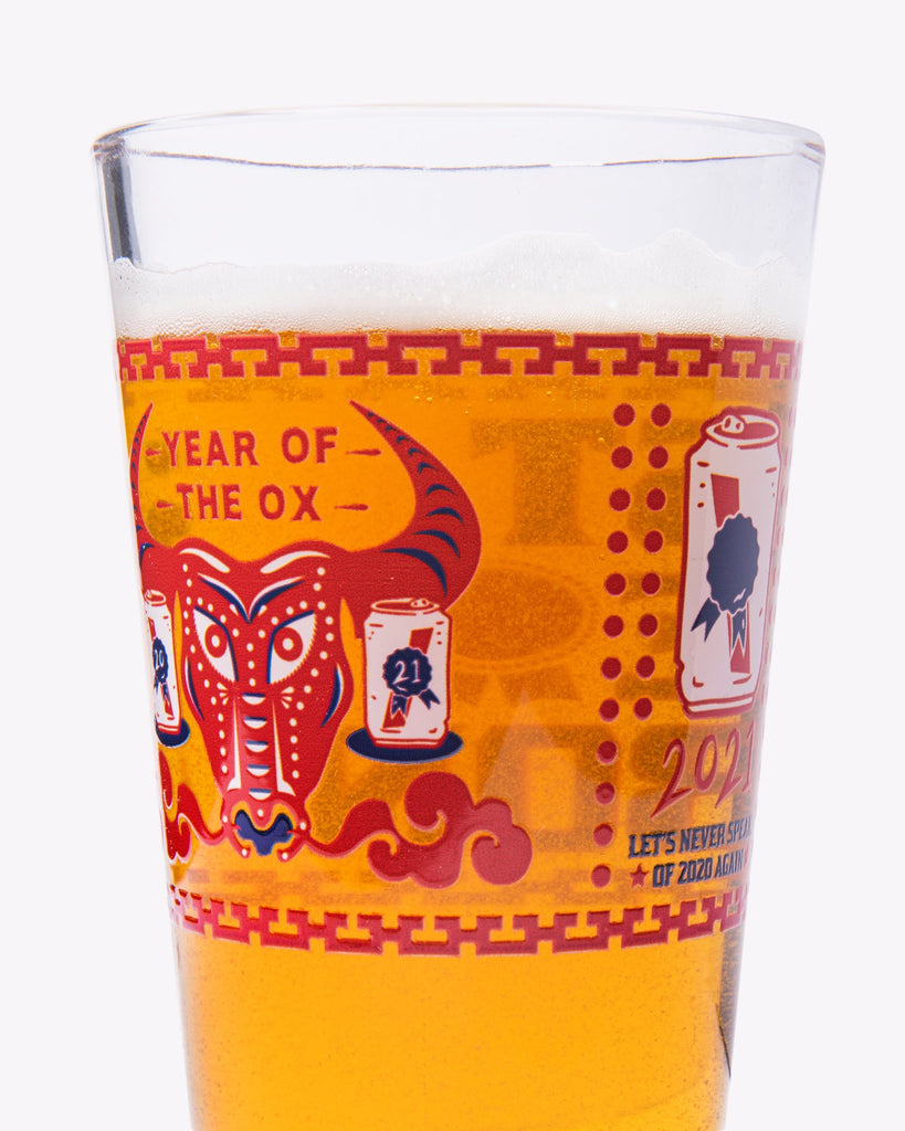 PBR Year Of The Ox Pint Glass Set Of 2