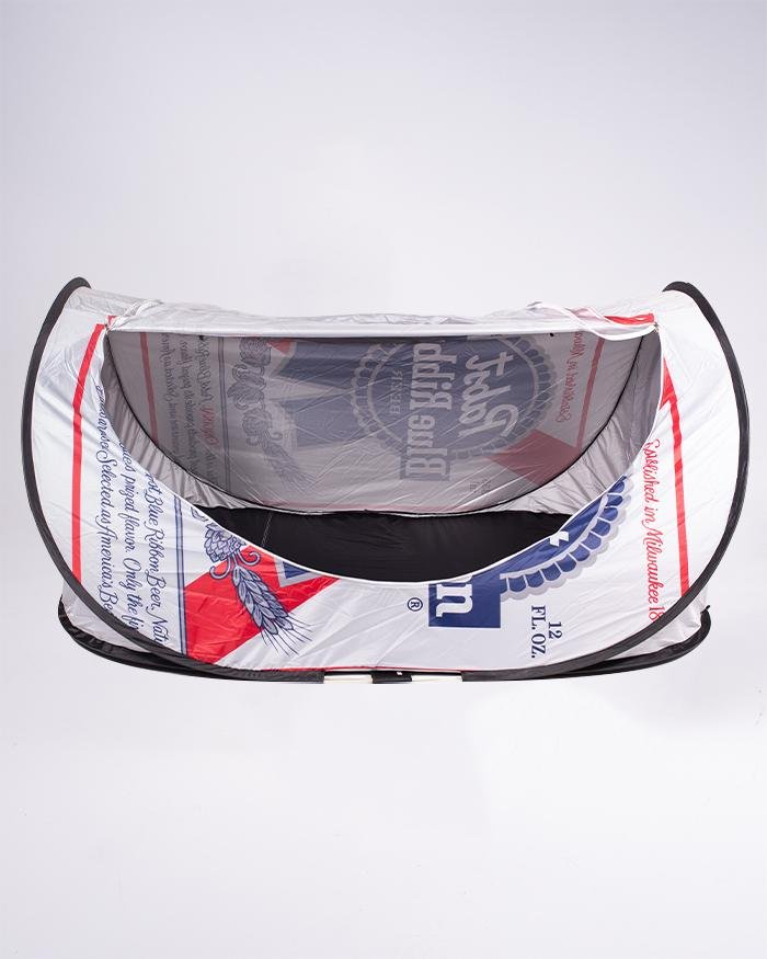 PBR CAN SHAPED TENT - Pabst Blue Ribbon Store