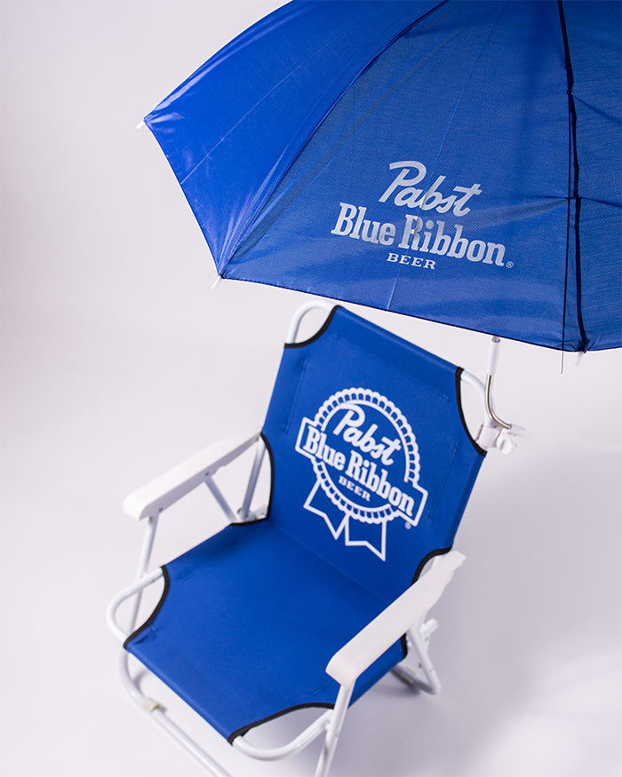 PBR FOLDING BEACH CHAIR - Pabst Blue Ribbon Store