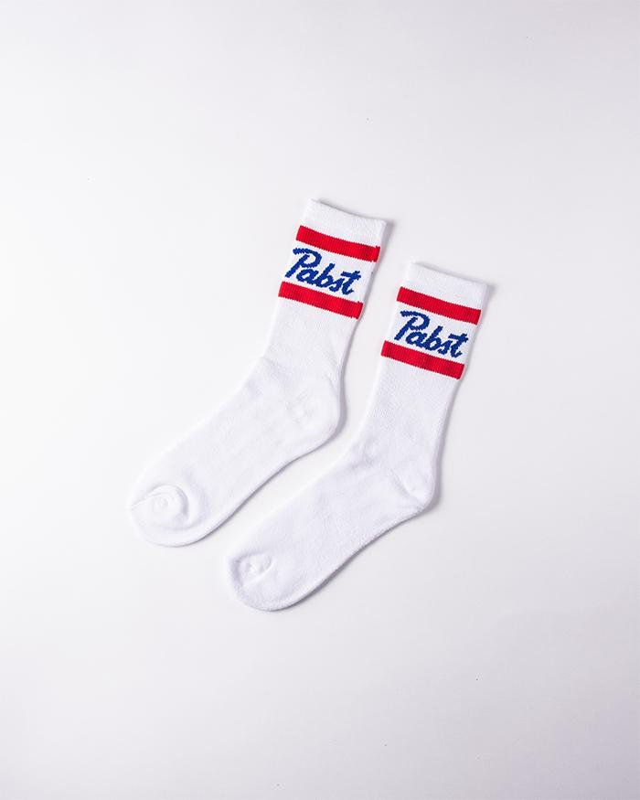 PBR Signature Mid Calf Socks - Pabst Blue Ribbon Store